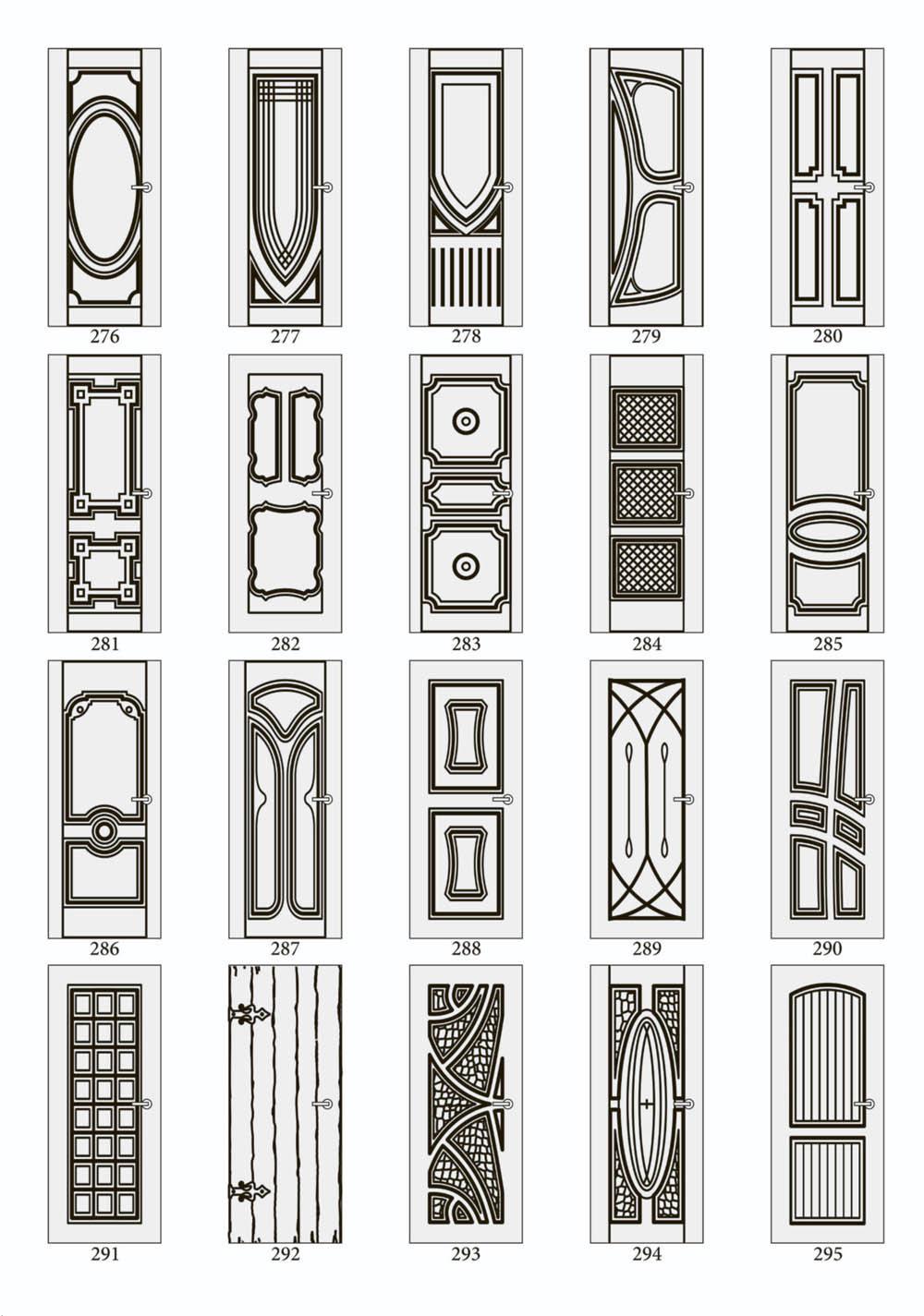 Дизайн дверного проема рисуно